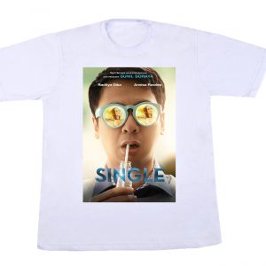 t-shirt single warna putih